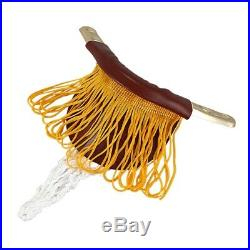 10X(Pool Table Cotton Nets Pockets with Fringe Brass Irons for Children FP)