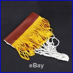 15X(Pool Snooker Table Cotton Nets Pockets with Fringe Brass Finish Irons f 6R7)