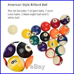 16Pcs Billiard Ball Set 2in Polyester Resin Pool Table Accessories Indoor Sport