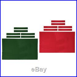 2.8x1.5m Pool Table Cloth Felt with Side Strips for 9ft Snooker Billiard Table