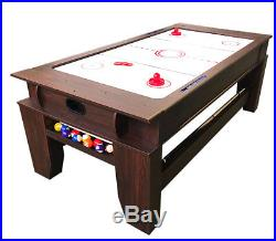 2 in 1 7Ft Red Pool Table Billiard became an Air Hockey Table with accessories