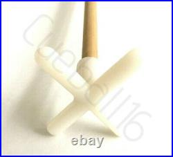 2 x 36 1 PIECE POOL or SNOOKER CUES With NYLON CROSS & BRIDGE RESTS For TABLES