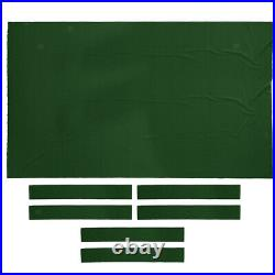 2x Professional Billiard Pool Table Cloth Snooker Table Accessory 8ft Green