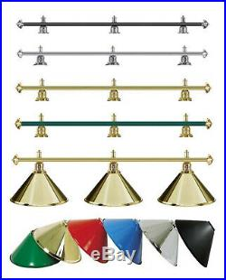 3 Shade Pool Snooker Billiard lighting lamps chandelier VARIOUS COLOURS Gold