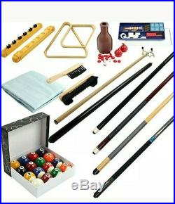 32-Piece Billiard Pool Table Accessories Kit Indoor Home Game Room Family Play