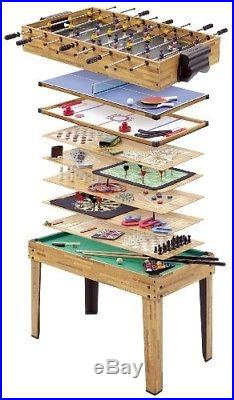 34-IN-1 Games Table Football Hockey Pool Tennis 31 Other with All Accessories