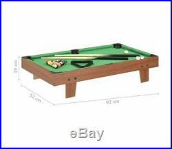 3FT Indoor Mini Pool Table With Accessory Snooker Billiard Tabletop Sport Game New