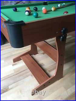 4.5ft Sturdy Folding Pool Table with Accessories