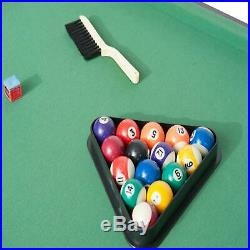 4 Ft 6In Billiards/Pool Table With Balls And Accessories Green Pool Set Table