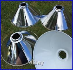 4 trade Metal Chrome Pool snooker light shades for canopy lights, ex demo