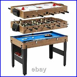 48 3 In 1 Combo Game Table, Pool, Hockey, Foosball, Accessories Included