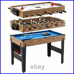 48in 3in1 Combo Game Table Pool Hockey and Foosball Game Table with Accessories
