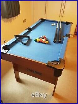 4ft 6ins BCE folding pool table Le Club with accessories. Excellent condition
