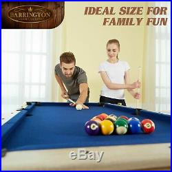 5 Ft. Folding Billiard Pool Table with Cue Set & Accessory Kit Home Game Room NEW