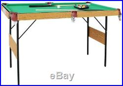 55 Folding Billiard Table Set Table Top Pool With All Accessory Included Quick