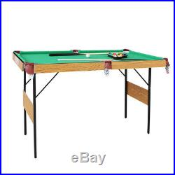 55 Folding Snooker Table Modern Space Saving Billiard Table With Accessories