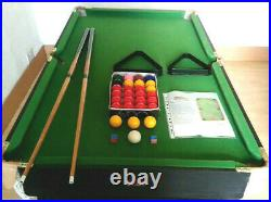 5ft BCE Snooker Table with cues, balls for snooker and pool and accessories