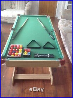 5ft Folding Snooker & Pool Table with Accessories