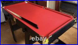 5ft Mini Red Pool Table With Accessories Foldable Legs