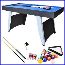 5ft Pool Table 2 In 1 Combo Table Pool And Table Tennis With Accessories Blue