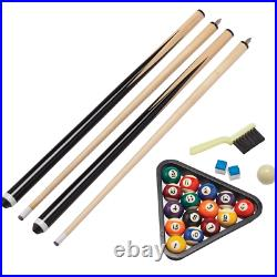 5ft Sturdy Folding Pool Billiard Table Snooker Foldable Indoor Game Accessories