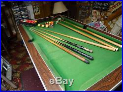 6 Foot Slate Bed Pub Style Pool Table With All Accessories