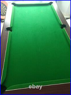 6 X 3 Slate Bed Pool Table Plus All Accessories Collect Blackpool
