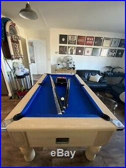 6 X 3 ft Slate Bed Pool Table and accessories. Coin Operated, Ascot Pub Table