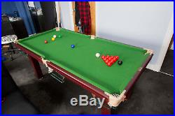 6' by 3' pool table and accessories