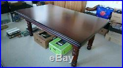 6 foot by 3 foot pool/Dining table with accessories
