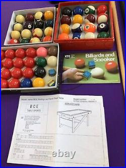 6FT BCE FOLD + ROLL LAY FLAT POOL / SNOOKER TABLE +BALLS +ACCESSORIES N. Ireland