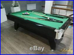 6FT Slate Bed Pool Table High Gloss Radley Diamond Multi Games Free Accessories