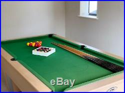 6Ft Pool Table (6ft x 3ft) including snooker and pool balls and accessories