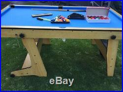 6ft BCE folding pool table with accessories