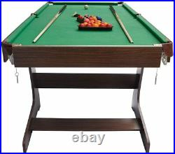 6ft Bce Folding Pool / Snooker Table With Balls Lots Of Accessories Stable Solid