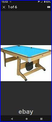 6ft Bce Pool/table Tennis/darts Folding Table With Lots Of Accessories