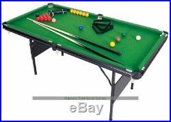 6ft Crucible 2-in-1 Folding Snooker/Pool Table (accessories included)
