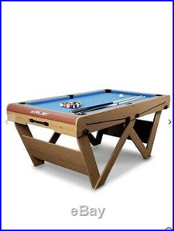 6ft Deluxe Pool and Table Tennis Table Comes With all accessories to play Games