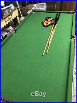 6ft Folding Snooker/Pool Table With Accessories
