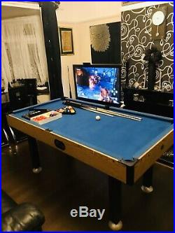 6ft Pool/Snooker Table With Automatic Ball Return System & All Accessories Inc