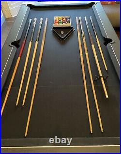 6ft Pool Table Stylish Black Cloth Very Good Condition with Accessories