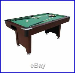 6ft Pool Table With Green Cloth And Accessories