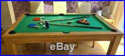 6ft Pool table Table tennis Dining table- 3 in 1 with all accessories inc
