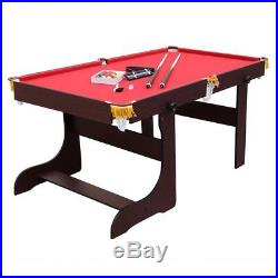 6ft Professional Folding Snooker Pool Table With Cues Balls Other Accessories