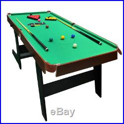 6ft Snooker Table Pool Table Folding Billiard Table with All Accessories Green
