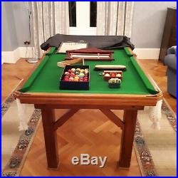 6ft slate bed snooker/pool table with accessories