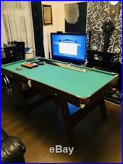 6ft x 3ft Folding Pool/Snooker Table. All Accessories Included Great Condition