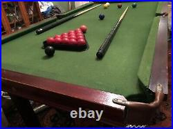6ft x 3ft SLATE BED Snooker/Pool/Billiard Table with Accessories