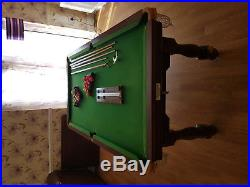 6ft x 3ft Slate Pool table with accessories see below