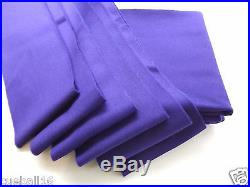 6x3 PURPLE High Quality Napped WOOL Bed & Cushions Set Cloth for UK Pool Tables